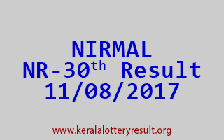 NIRMAL Lottery NR 30 Results 11-8-2017