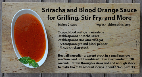 grilling sauce, sriracha bbq sauce, orange stir fry sauce
