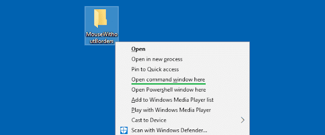 "Phục hồi ""Open command window here"" context menu option trên Windows 10 Creators Update"