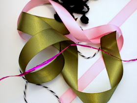 ribbon to make woven Easter baskets