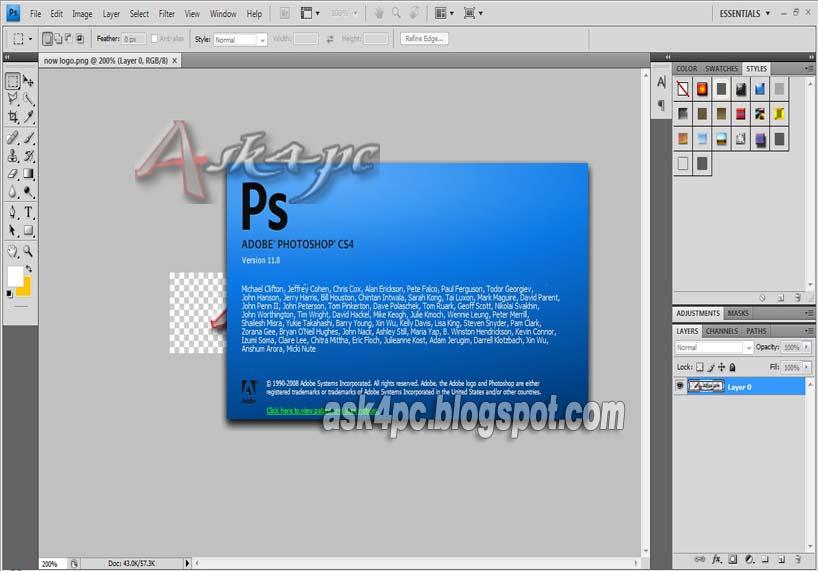 photoshop cs4 gratuit en francais clubic