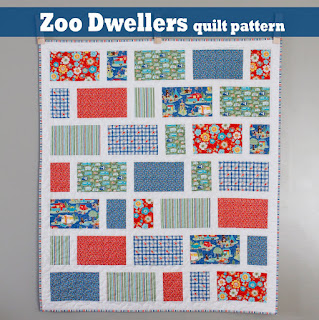 Zoo Dwellers free quilt pattern A Bright Corner