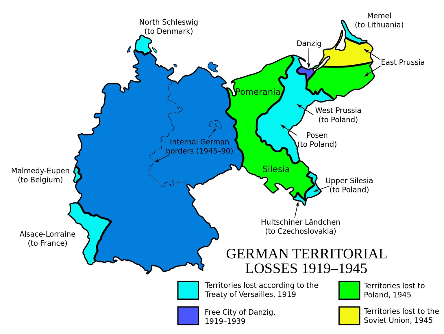 German territorial losses (1919 - 1945)