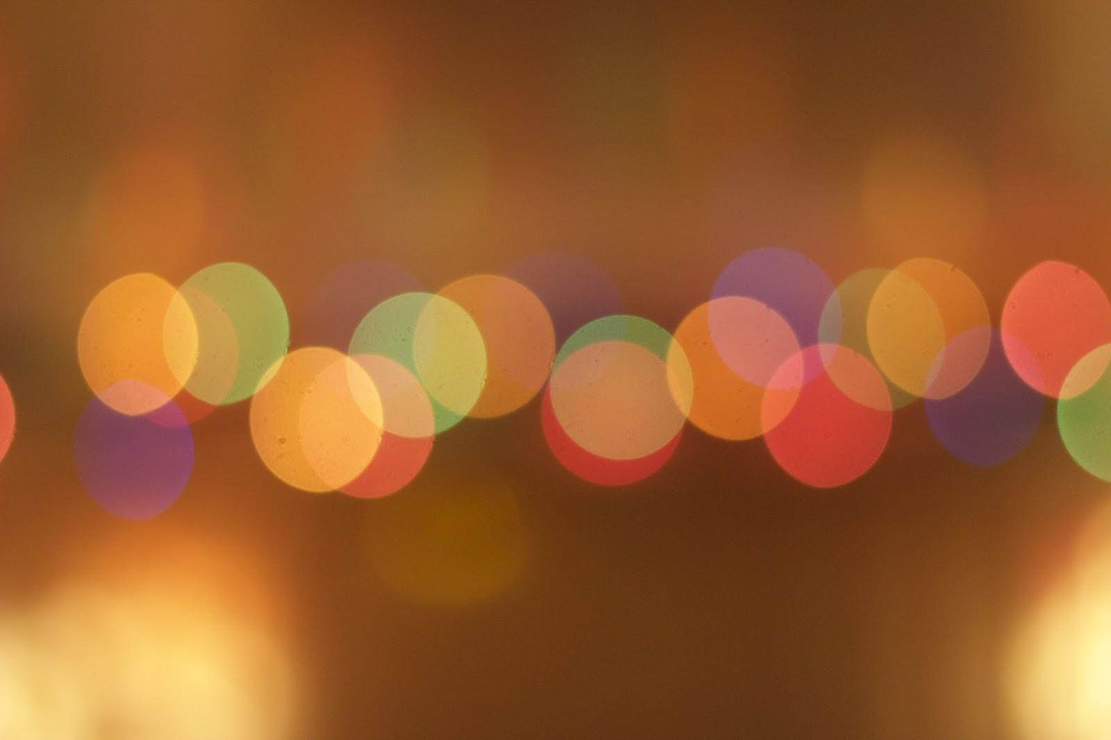 Blurred Bokeh Fairy Lights