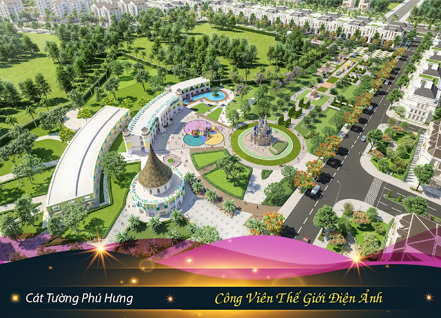 Bán đất sổ đỏ TP Đồng Xoài, Bình Phước: Công viên Thế Giới Điện Ảnh - The Angel tại Cát Tường Phú Hưng