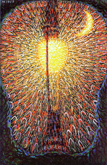 Giacomo Balla futurism painting of streetlight