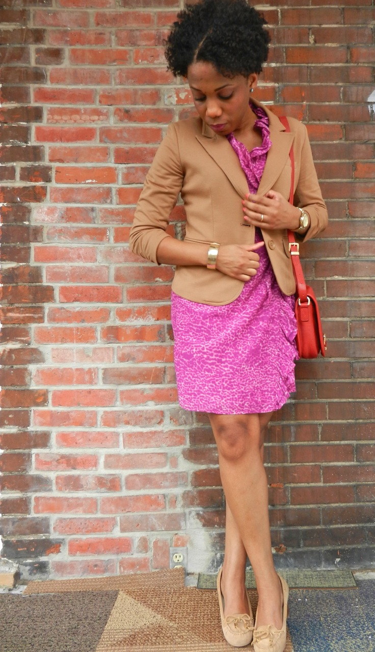 Wearing Pink and Camel