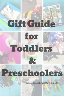 A selection of gifts for toddler and preschoolers