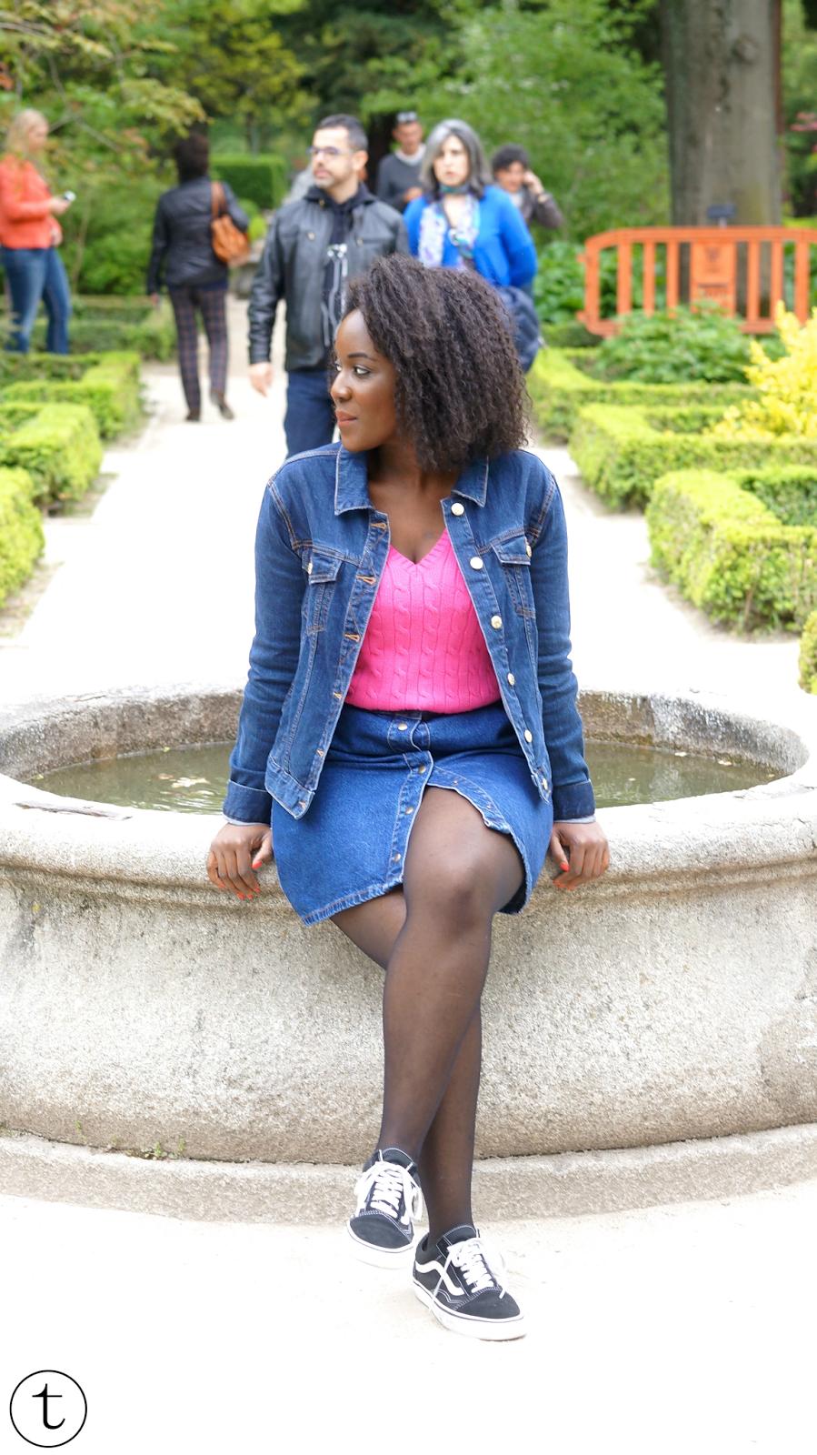 fashion blogger at the botanical garden of mardrid travel diary