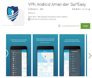 SurfeasyVPN di Android