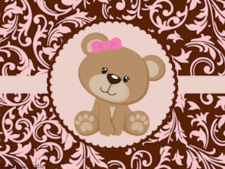 Sweet 16 Cute Bear Free Printable Labels.