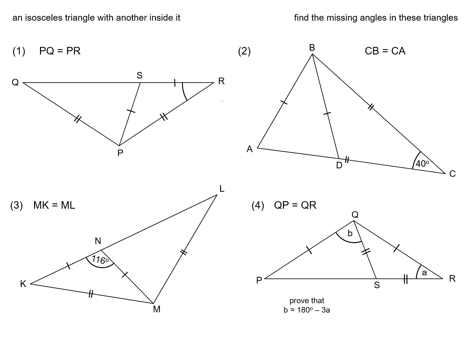 MEDIAN Don Steward mathematics teaching: two isosceles