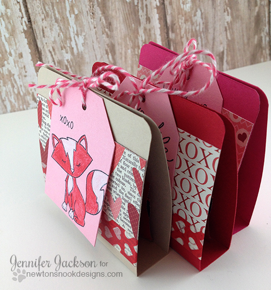 Ghirardelli treat holders by Jennifer Jackson | Sweetheart Tails Stamp set by Newton's Nook Designs!