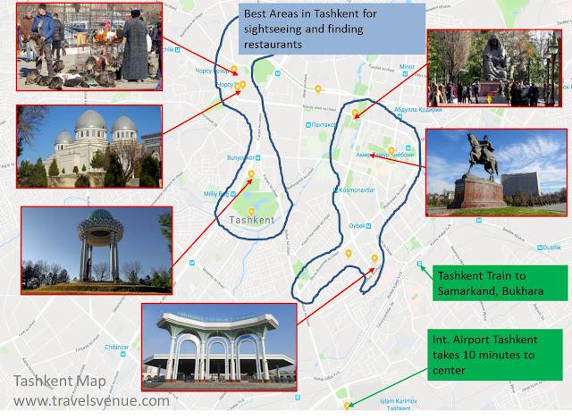 Tashkent Tourist Map
