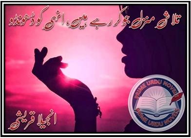 Talash e manzil jo kar rahy hain unhi ko dhoondo novel by Anjeela Qureshi