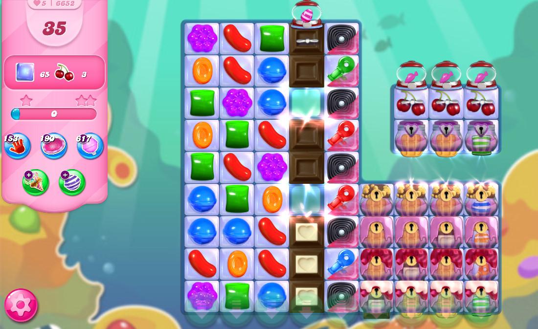 Candy Crush Saga level 6652