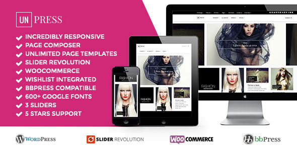 Free Download unPress Magazine - Elegant & Minimalistic - Woocommerce wordpress theme