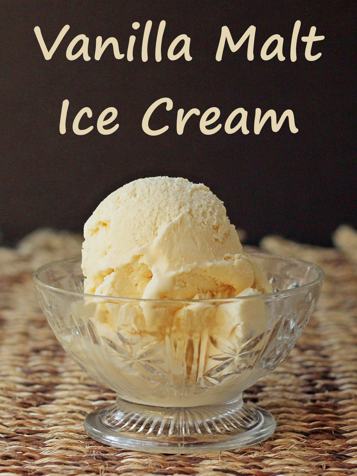 Malted Vanilla Ice Cream