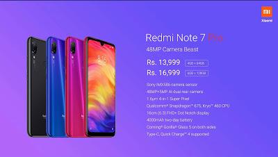 Redmi Note 7 Pro Phone Details