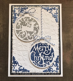Image result for Creative Expressions Paper Cuts merry christmas bauble