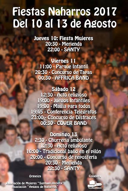 Cartel Fiestas Naharros 2017