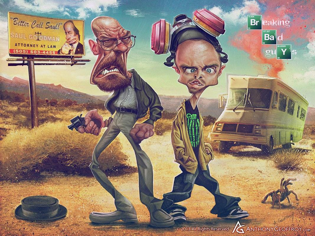 Heisenberg y Jesse Pinkman por Anthony Geoffroy