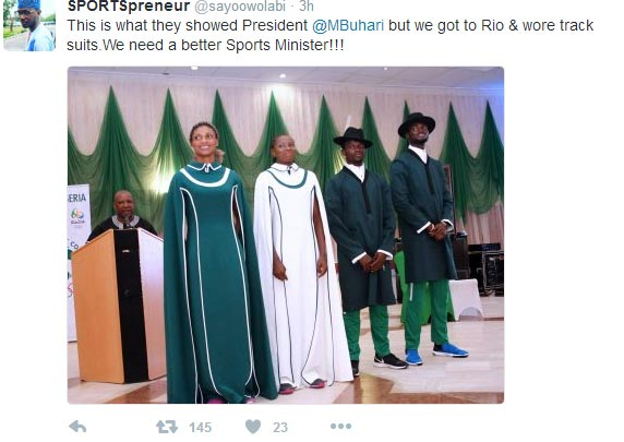 See outfit designed for Team Nigeria at Olympics opening ceremony