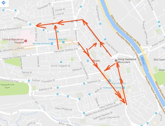 В Тбилиси улицы в районе проспекта Пекина временно станут односторонними и изменится маршрут следования по ним
