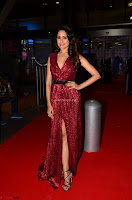 Pragya Jaiswal stunning Smiling Beauty in Deep neck sleeveless Maroon Gown at 64th Jio Filmfare Awards South 2017 ~  Exclusive 060.JPG