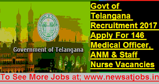 Govt-of-Telangana-146-Medical-Officer-ANM-Staff-Vacancies