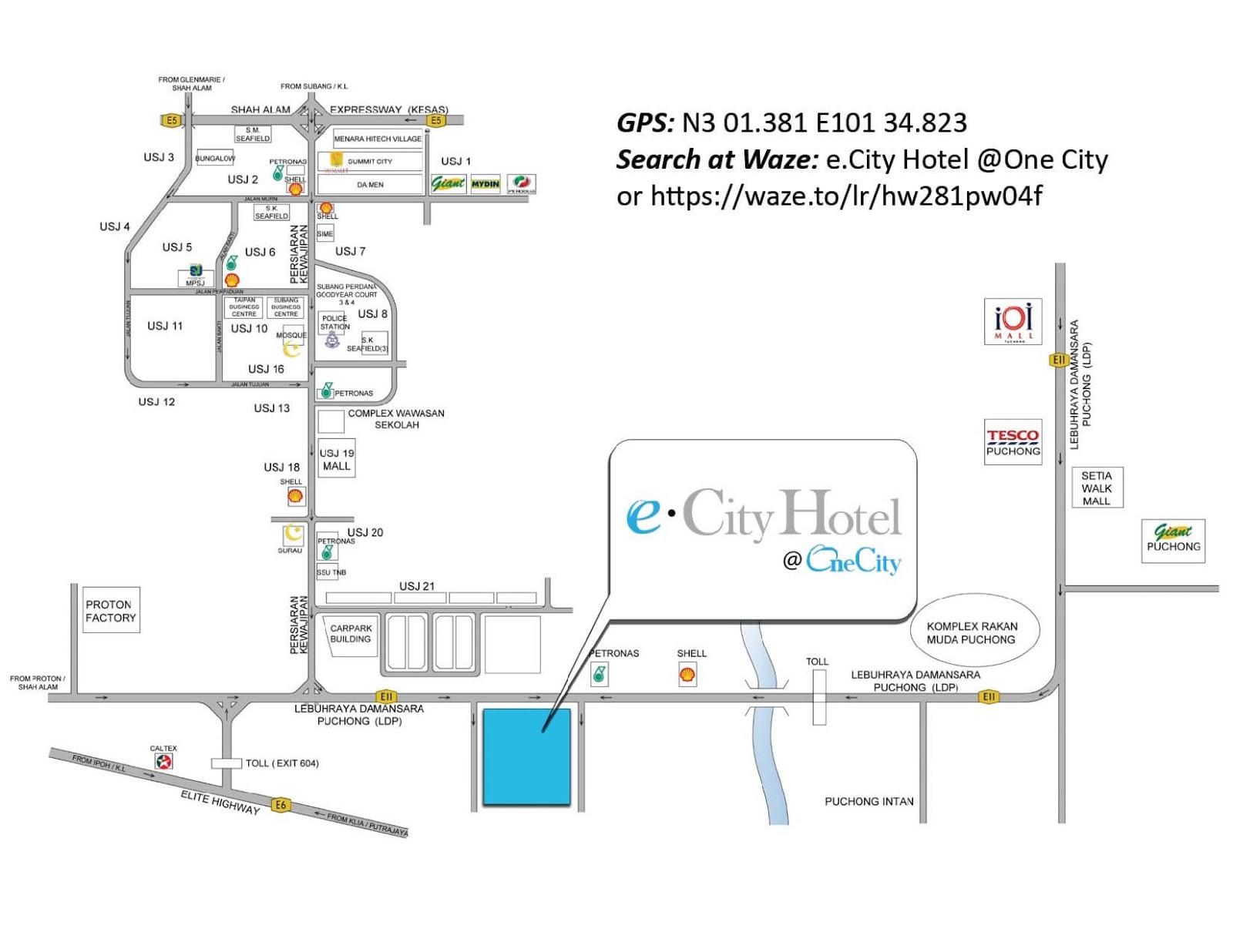E City Hotel One City Subang Jaya