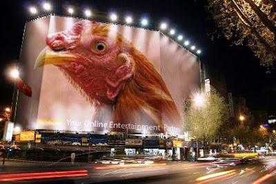 mural de gallo de pelea