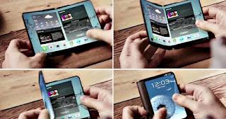 Rancangan Purwarupa Smartphone Yang Dapat Dilipat Dari Samsung