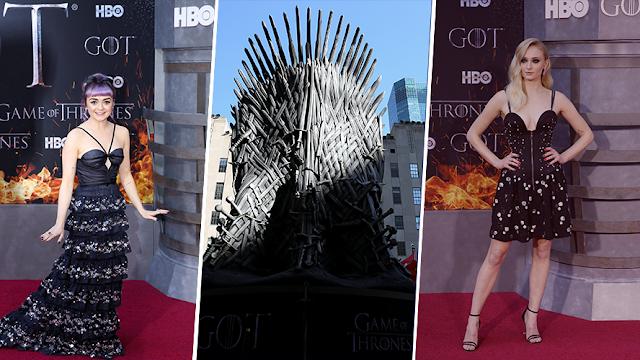 'Los 7 reinos' de Game of Thrones desfilaron en la alfombra roja en NY