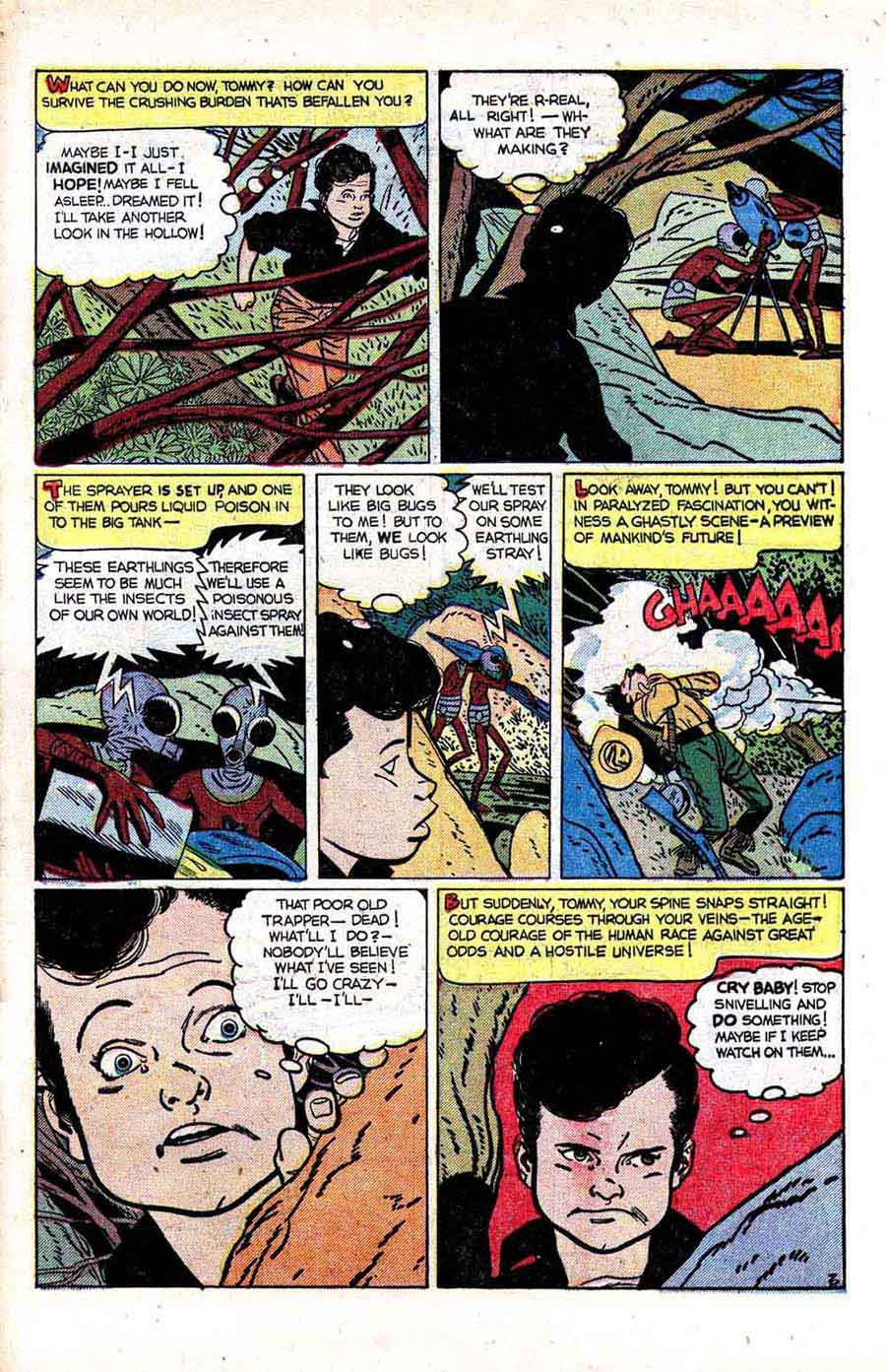 Fantastic Worlds #6 golden age science fiction comic book page art by Alex Toth