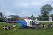 Helikopter Polisi Hanya Jadi Tontonan Gratis Masyarakat Lambego Selayar