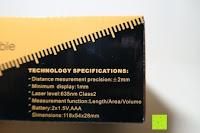 Info: Laser-Entfernungsmesser, Jetery Digital Laser Distanzmessgerät Messung von Distanz, Flächen, Volumen|+/-2mm Messgenauigkeit|Laser Distanzmesser m/in/ft IP54 Schutz mit LCD Display, Wasserwaage, Batterien, Schutztasche (40M)
