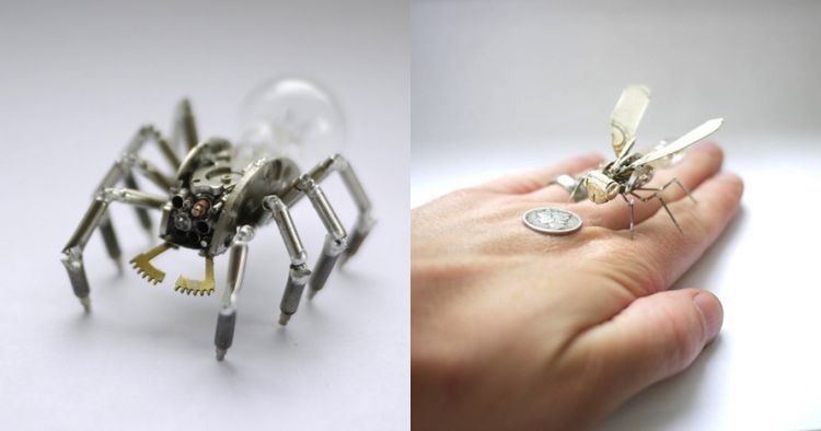 10 Serangga ini terbuat dari jam bekas, detailnya mengagumkan