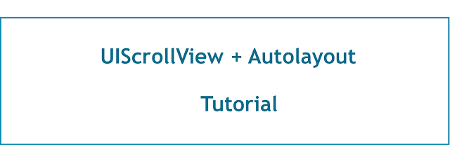 UIScrollView with Autolayout  - IOS tutorial