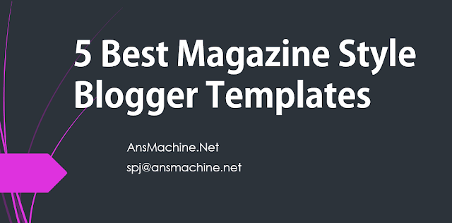 magazine style templates