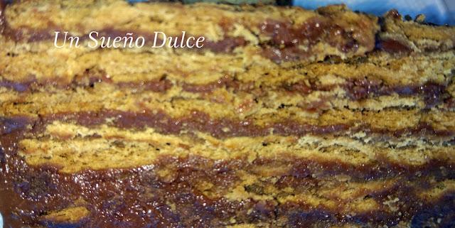 Tarta de galletas y Nutella sin horno
