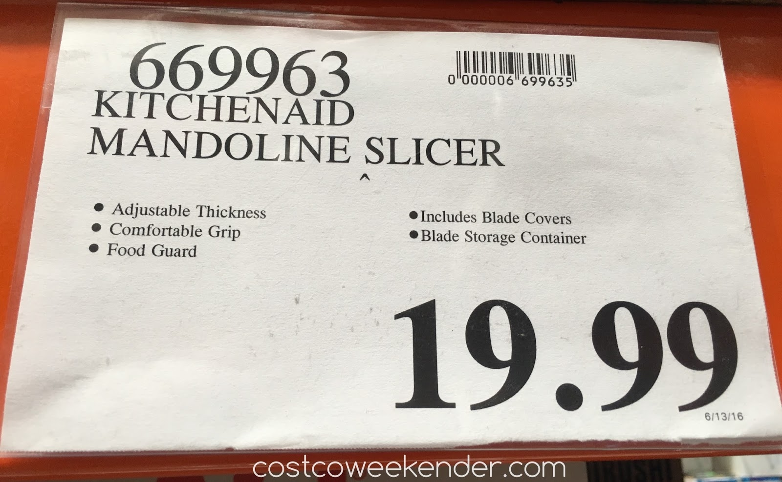 Deal For The Kitchenaid Mandoline Slicer Set At Costco