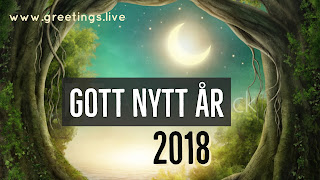 Fantasy Happy New year in Swedish language