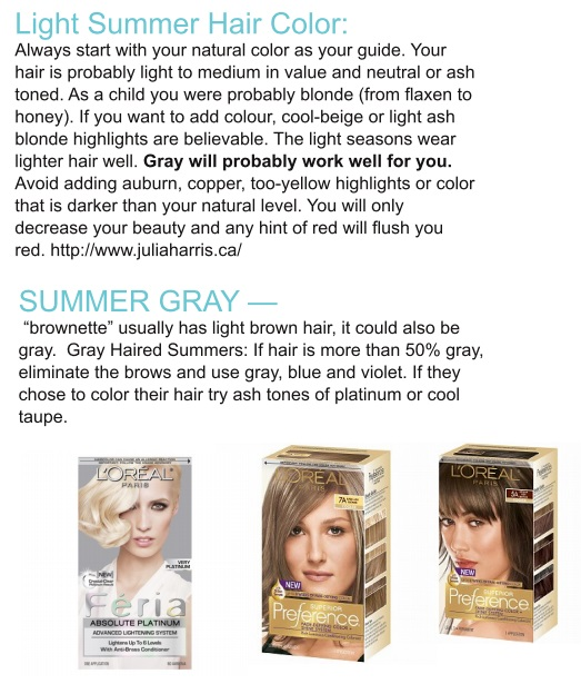 Hair By Season Light Summer