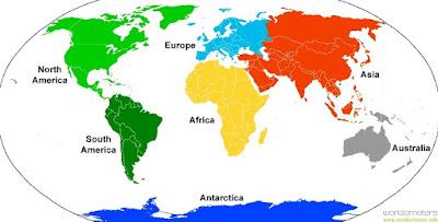 7 Benua di Dunia (Permukaan Bumi)