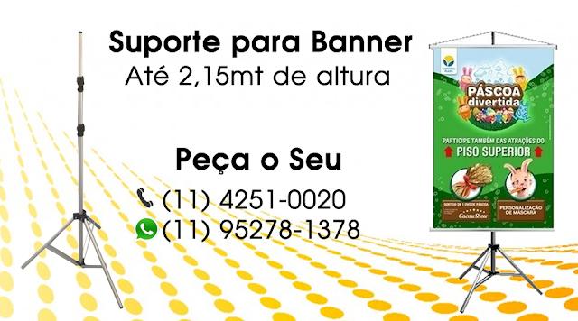Suporte para Banner, São Paulo, Rio de Janeiro