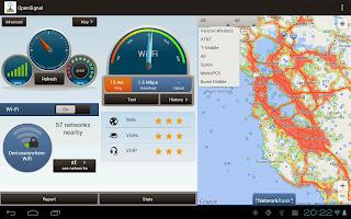 Dashboard di OpenSignal per Android