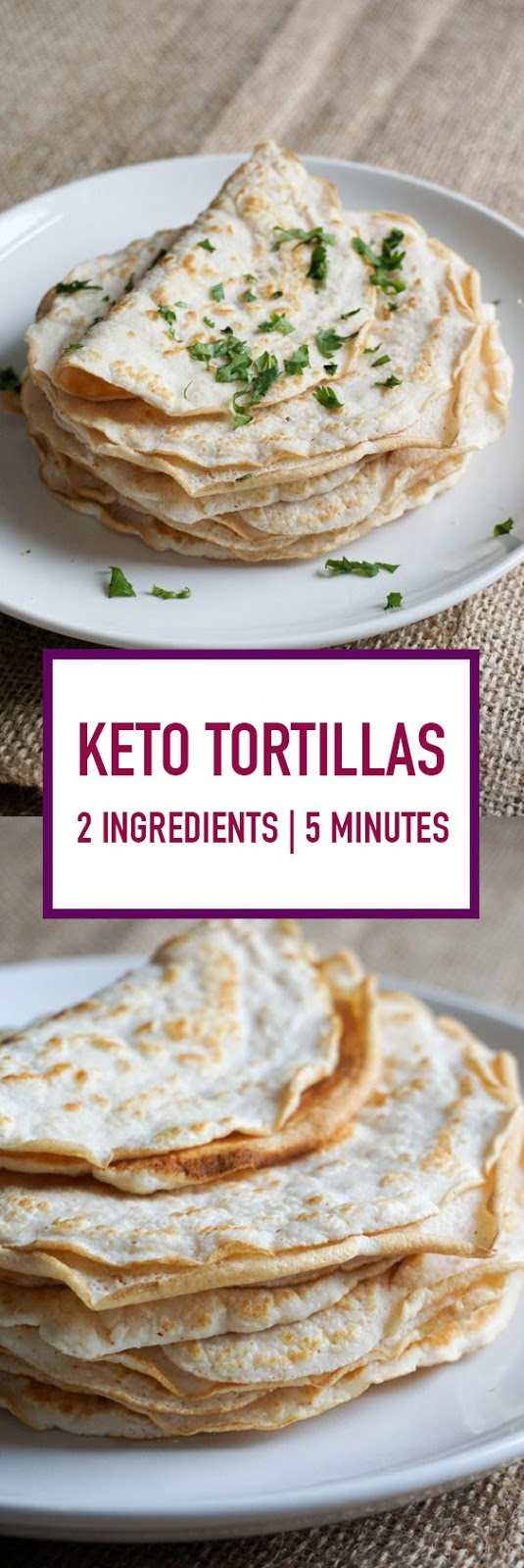 Keto Tortillas with 2 Ingredients Ready in 5 Minutes