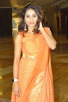 Bhanu Priya in Oreange Ethnic Anarkali Dress 09.JPG