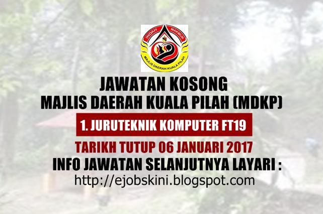 Jawatan Kosong Majlis Daerah Kuala Pilah (MDKP) Januari 2017